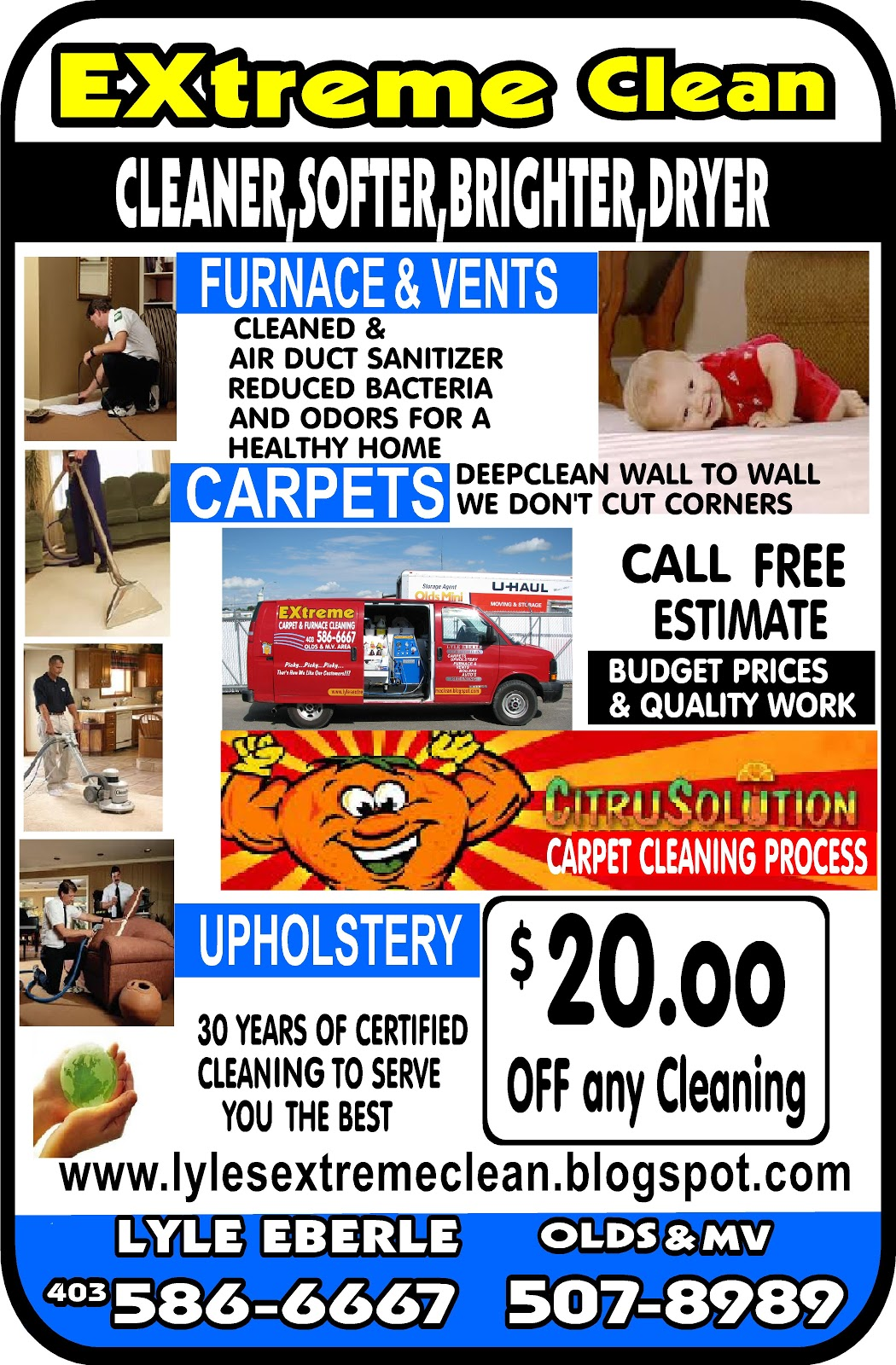 Extreme Carpet And Furnace Cleaning 403 586 6667 403 586 6667
