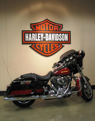Red and Black Street Glide