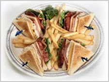 The popular, but not quite authentic, Triple-deck Club Sandwich