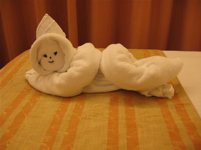 Day 6 towel sculpture