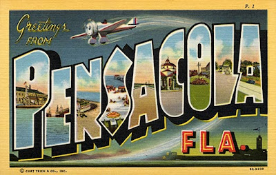 Greetings from Pensacola, 1930s postcard.