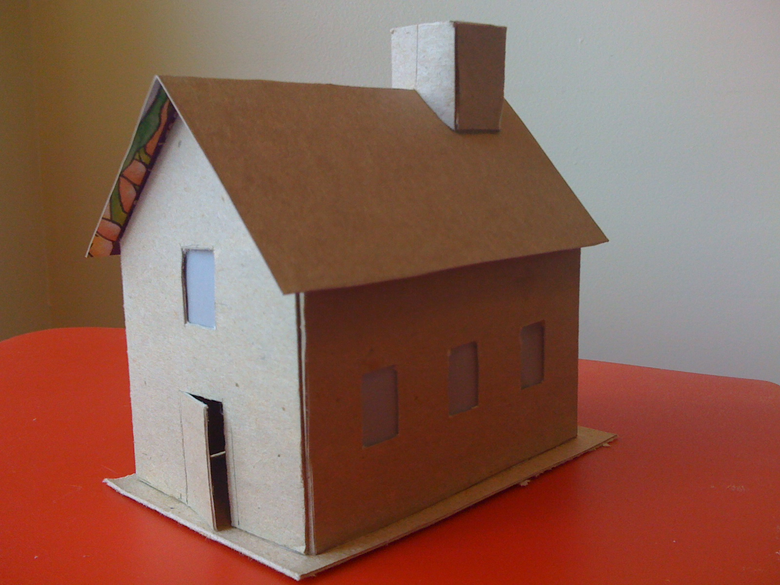 Cardboard house model craft