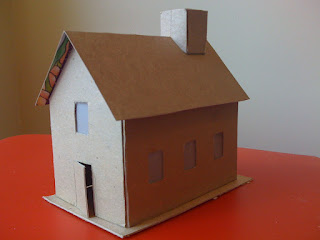 how to make a victorian house out of cardboard