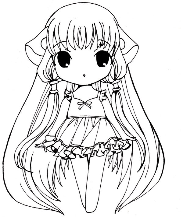 cute anime coloring pages - photo#22