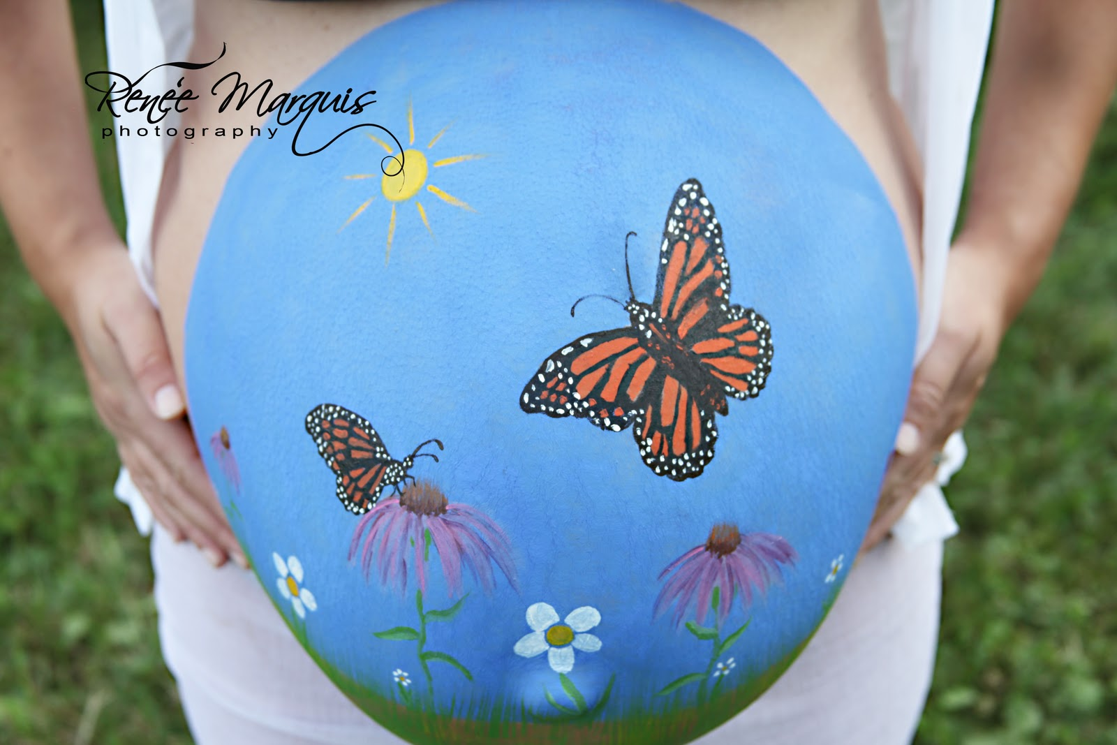 Relyea family entertainment pregnant belly painting for Maternity belly painting