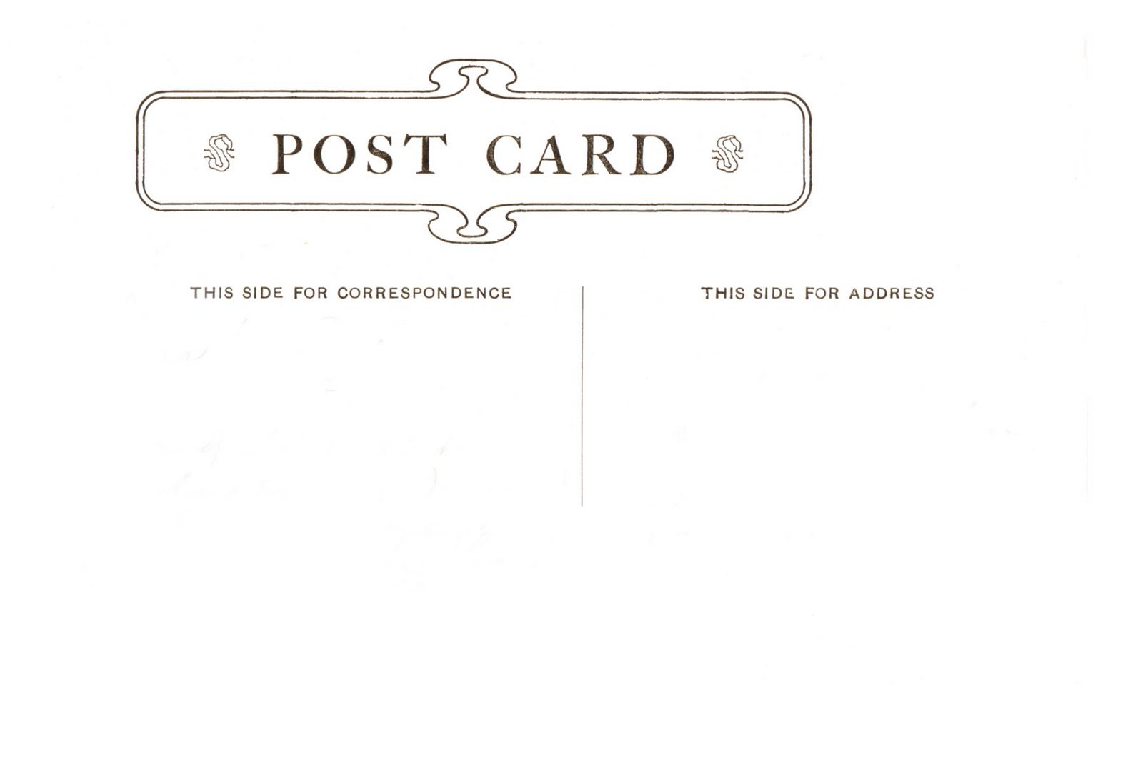 Postcard Template - Postcard template with lines