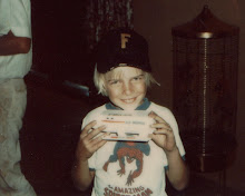 Proud owner of a Galileo 7 spacecraft. Thanksgiving, circa 1974.
