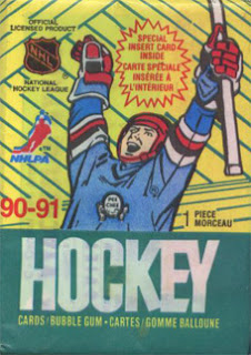 O-Pee-Chee, 90-91, pack, hockey cards