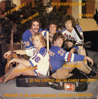 Phil Esposito and the Ranger Rockers, John Davidson, Ron Duguay, Dave Maloney, Pat Hickey, New York Rangers, Hockey Sock Rock