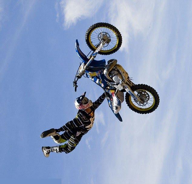 tvs bike stunt