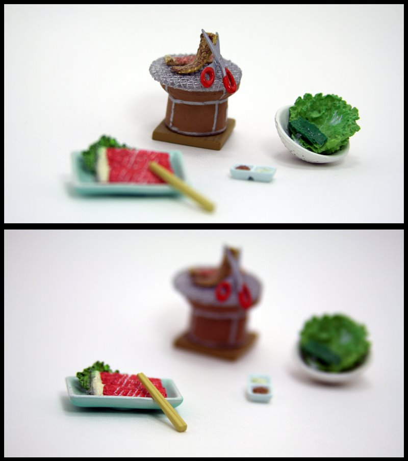 Miniature Food, Kalbi, Korean