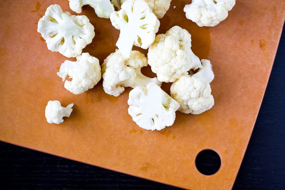 Grilled Curried Cauliflower