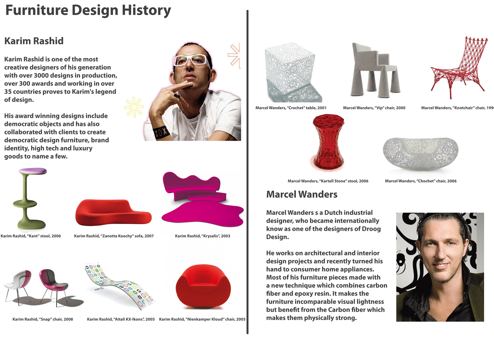 Furniture Design History furniturenotes: furniture design history research