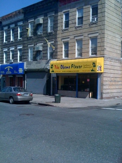 restaurant on troy ave in brooklyn called obama flavor