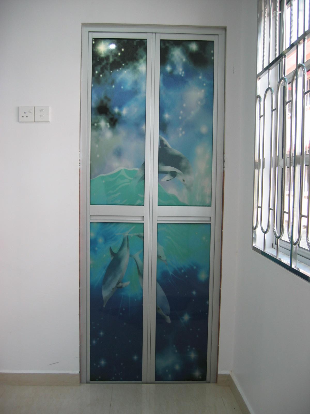 Shower screen penang bi fold door for Folding screen door