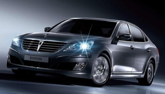The 2011 Hyundai Equus is a luxury sedan boasting a cost tag near six