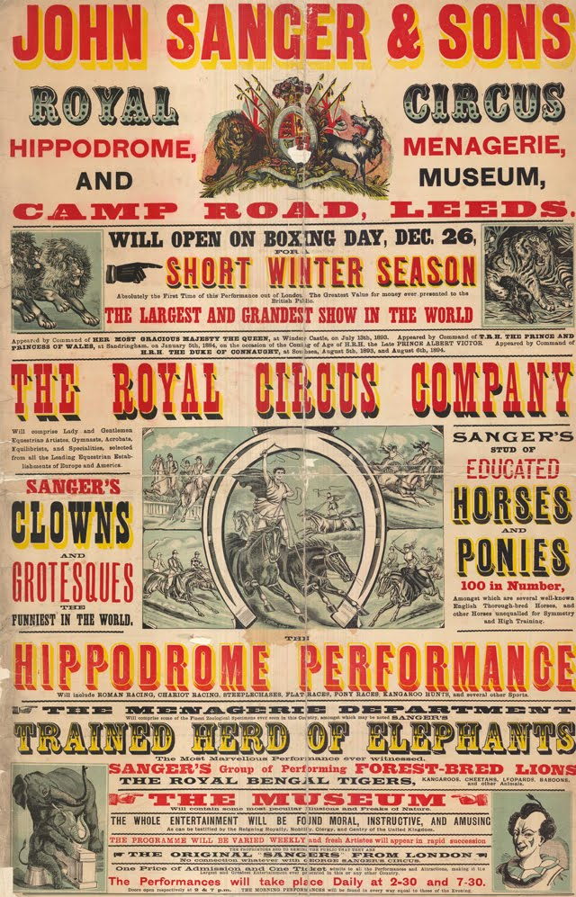 The Leeds Playbill Project Is An Online Archive Of Some Oldest Circus Posters And Vintage Playbills To Date Authentic Ads From This