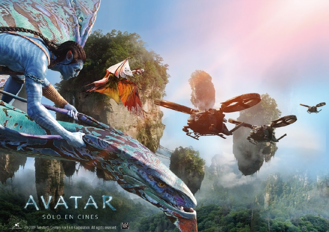 Here below a first official movie poster of avatar the upcoming sci