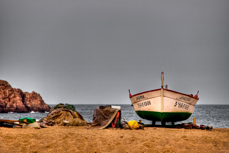 Barca de pescador a Mar Gran- Tossa de Mar