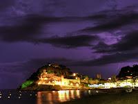 llamps castell tossa de mar nit rayo castillo