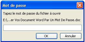 mot de passe word