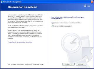 restauration de systeme sous windows xp