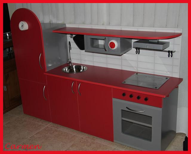 Casas cocinas mueble cocina de juguete madera for Cocina juguete segunda mano