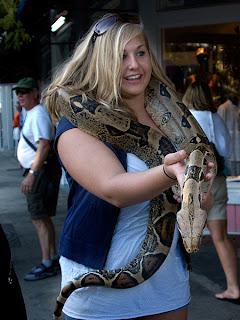 Click for Larger Image of Woman With Boa
