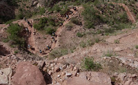 Click For Larger Image of Switchbacks From Trail Above