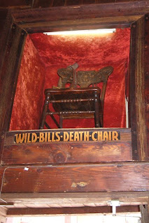 Click for Larger Image of One of Many Chairs Claimed to be Wild Bill's Death Chair