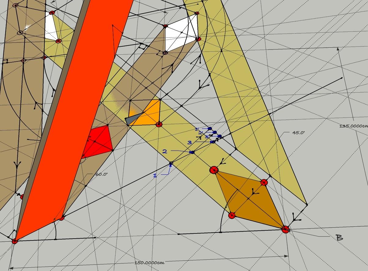 descriptive geometry Taxicab geometry  points equidistant from 1 point in taxicab geometry   points equidistant from 3 points in taxicab geometry.
