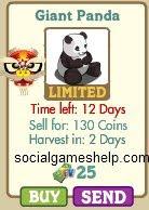 FarmVille Giant Panda Details