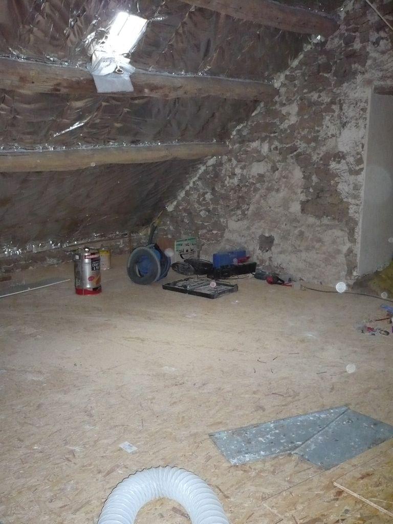 R novation maison briarde mai 2009 for Plancher comble brico depot