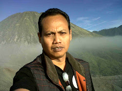 on the top of Bromo Mountain