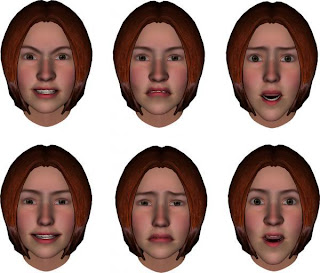 For support. 3 d computer image of facial expression think