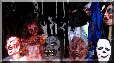Horror, Masken, Verkleidung, Halloween, Mexiko, Aguascalientes, Markt, Toten