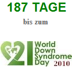 Countdown, Count Down, World Down Syndrome Day, Welt Down-Syndrom-Tag, 2010, Script, Java, Logo