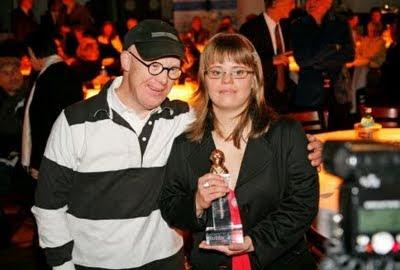 Interview mit Juliana Götze nach Verleihung des Medienpreises der Lebenshilfe für Menschen mit Behinderung, deutsch, Deutschland, Down Syndrom, Down-Syndrome, Extrachromosom, Trisomie 21,