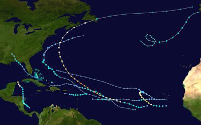 Wie lange bzw. von wann bis wann dauert eine Hurrikansaison, aktuell, Atlantik, Hurrikansaison 2010, Karibik, Pazifik,