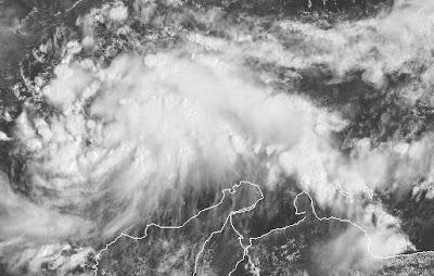Atlantik aktuell: Potentieller tropischer Sturm MATTHEW vor Karibikküste von Venezuela und Kolumbien, Venezuela, Kolumbien, 2010, aktuell, Atlantik, Hurrikansaison 2010, Karibik, Matthew, Video Stream, Live Stream Satellitenbild,