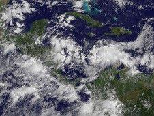 Atlantik aktuell: Update der Prognose der Zugbahn des Tropischen Sturms (potentiell Hurrikan) MATTHEW, 2010, aktuell, Atlantik, Honduras, Hurrikan Satellitenbilder, Hurrikanfotos, Hurrikansaison 2010, Karibik, Matthew, Mexiko, Nicaragua, Vorhersage Forecast Prognose, Zugbahn, Yucatán,
