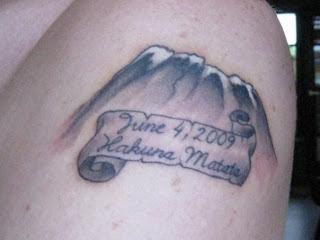 mount kilimanjaro tattoo hakuna matata