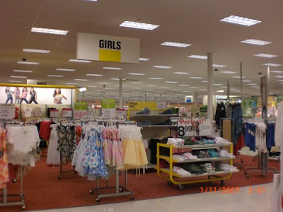 target store interior. Target February 13, 2009