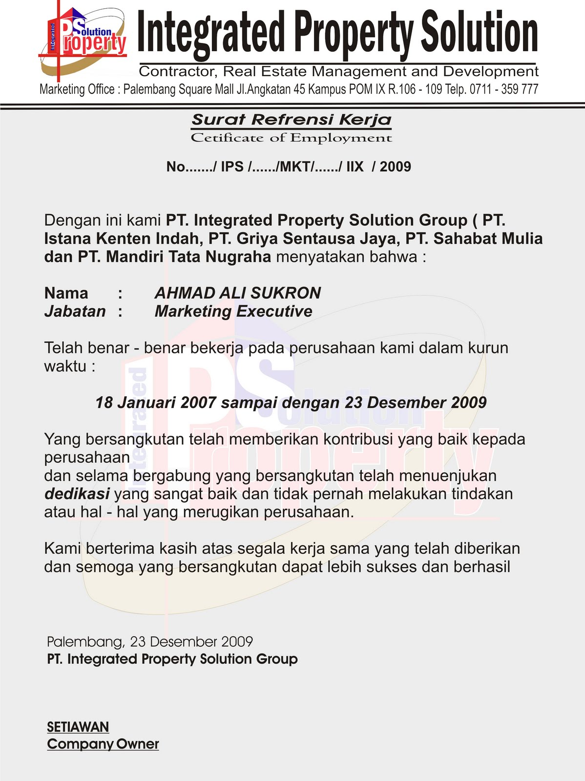 Contoh Surat - Surat Resmi Indonesia