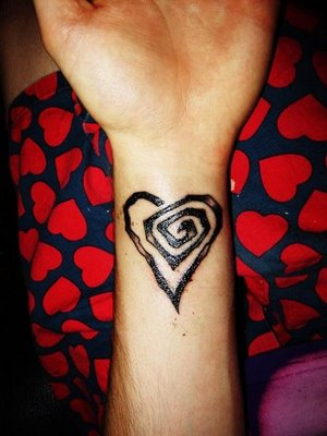 heart tattoos for girls on wrist. New Girls Wrist Tattoos
