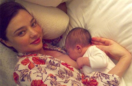 Miranda Kerr, had the audacity and the immodesty to post a breastfeeding