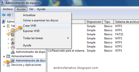 crear partición virtual windows 8