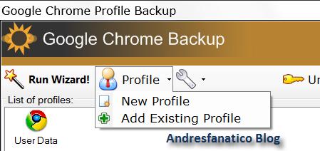 Crear copia de seguridad y múltiples perfiles en Google Chrome