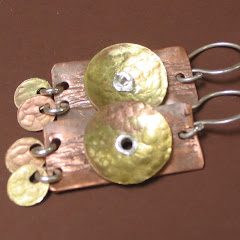 Riveted Vintage Survey Tag Earrings