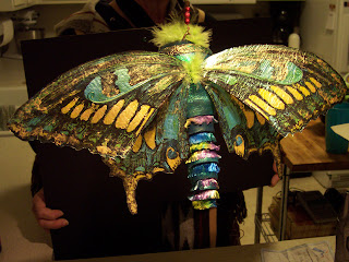 Another view of butterfly sculpture.